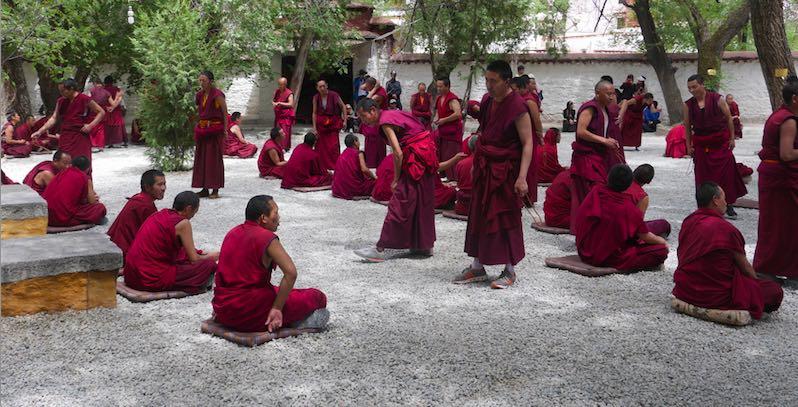 Tibet Lhasa Sera Monastery Monk Debate