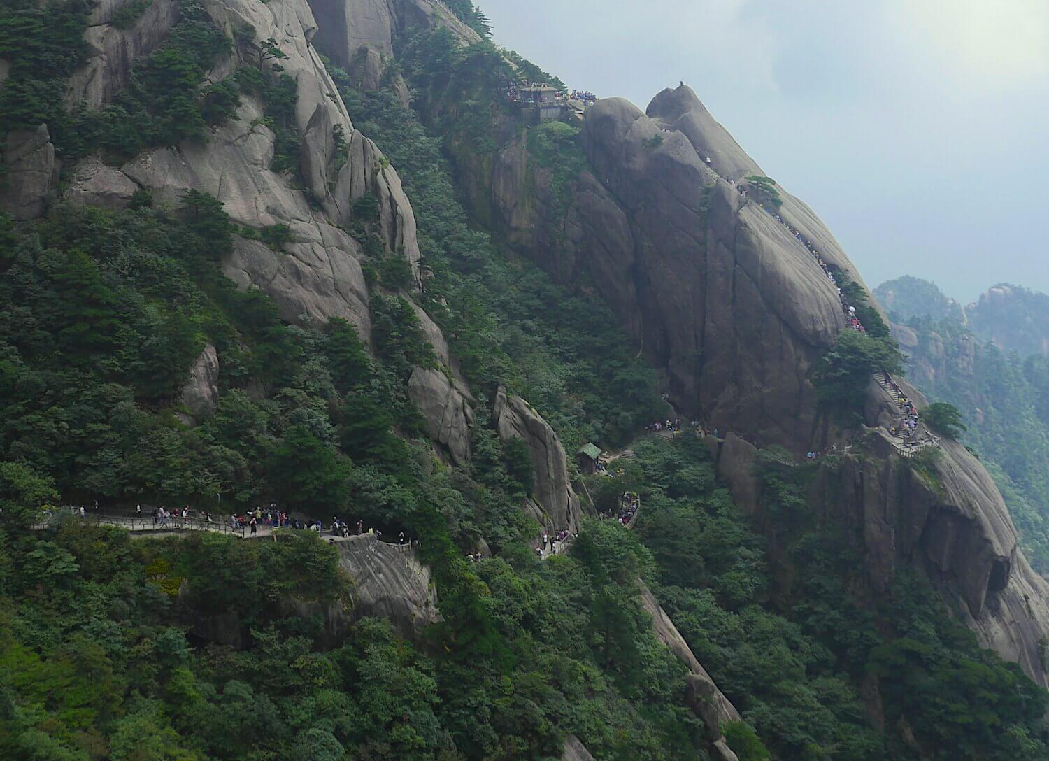 yellow mountain china hiking