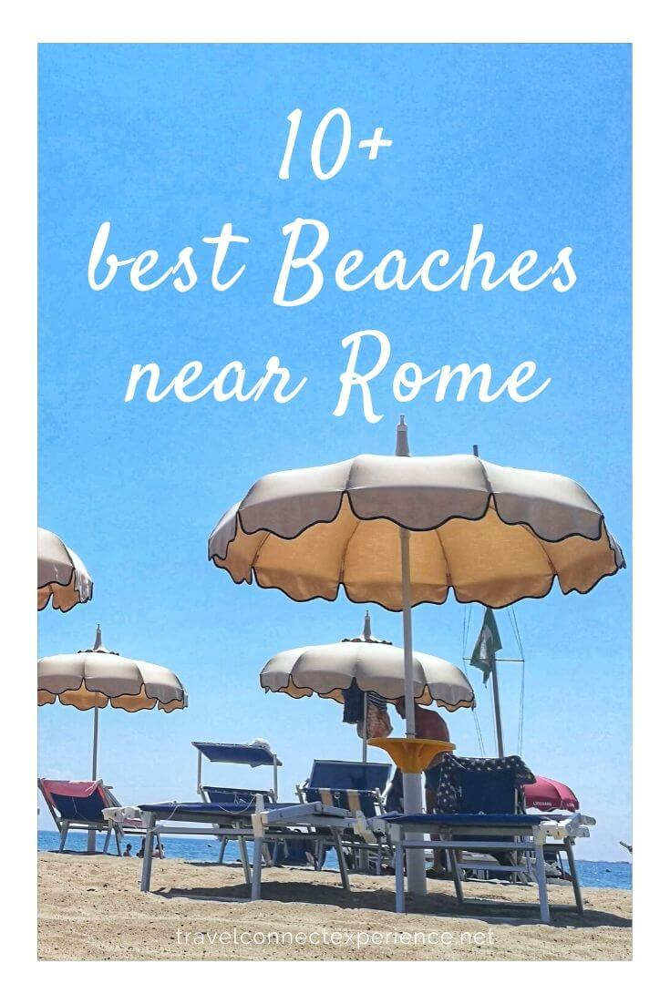 best beaches near rome italy pinterest
