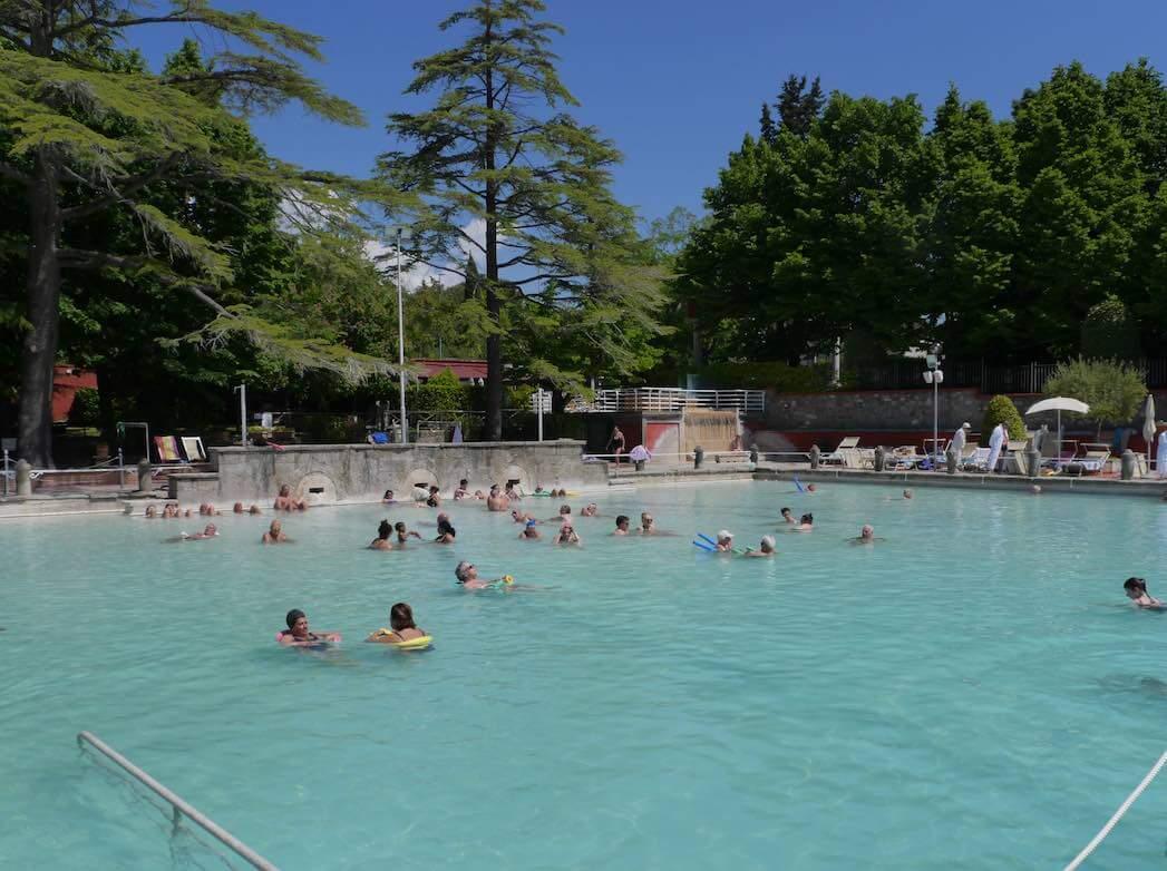 hot spring pool Viterbo Italy