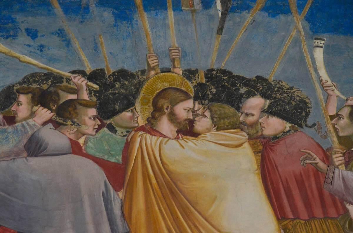 fresco by giotto inside scrovegni chapel padova