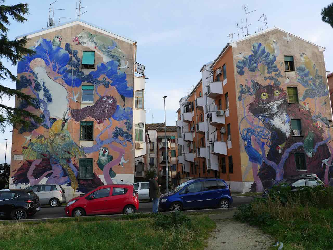 street art in san basilio Rome