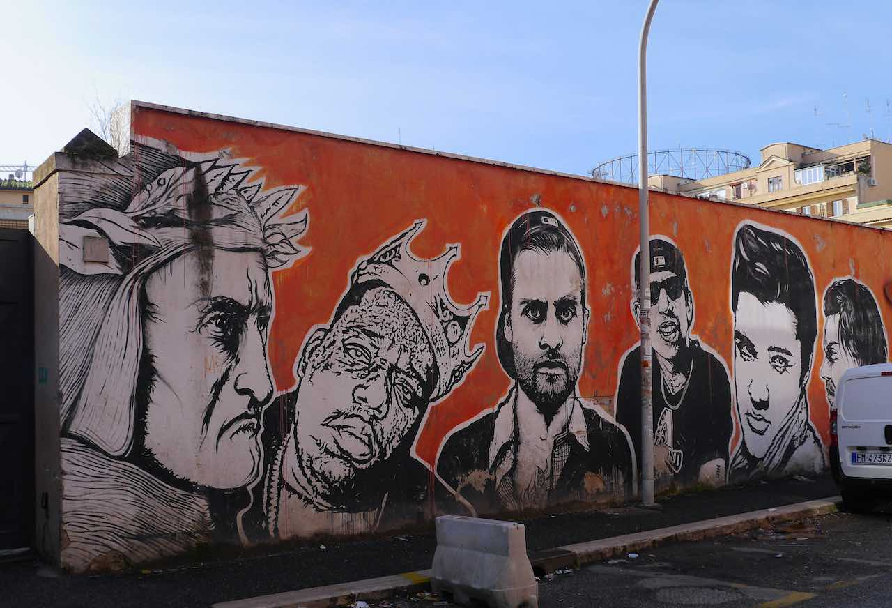 street art in the ostiense district rome