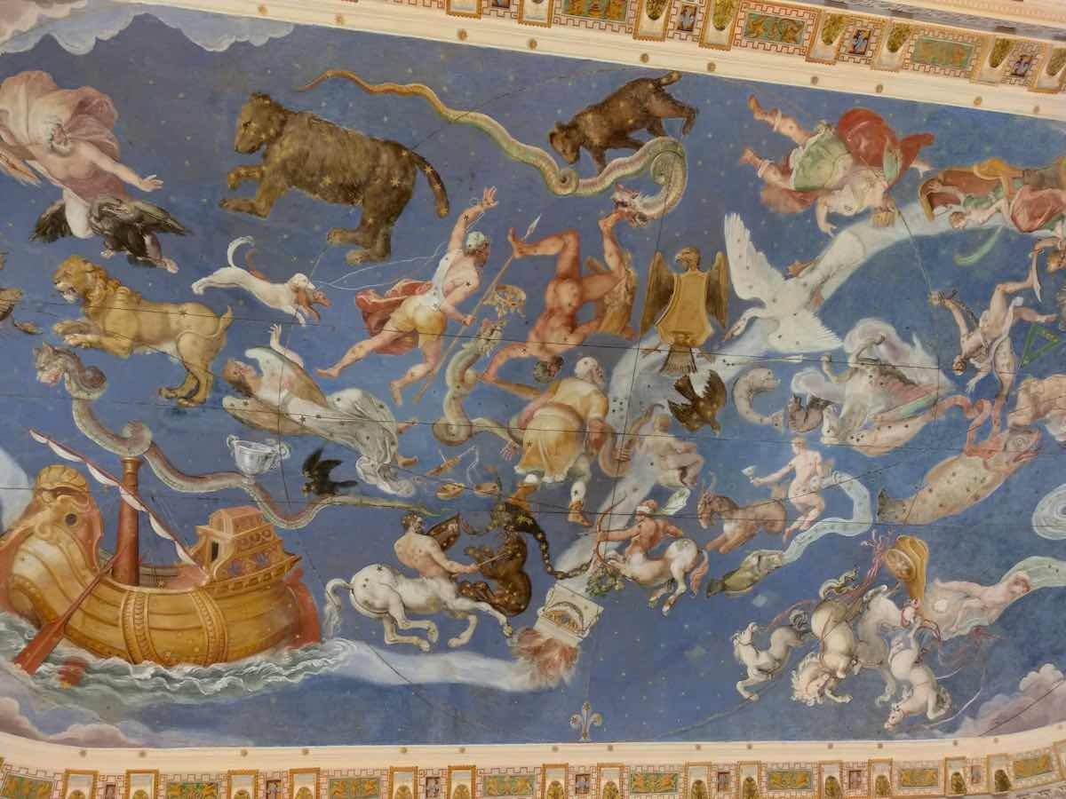 frescoes in the Villa Farnese of Caprarola