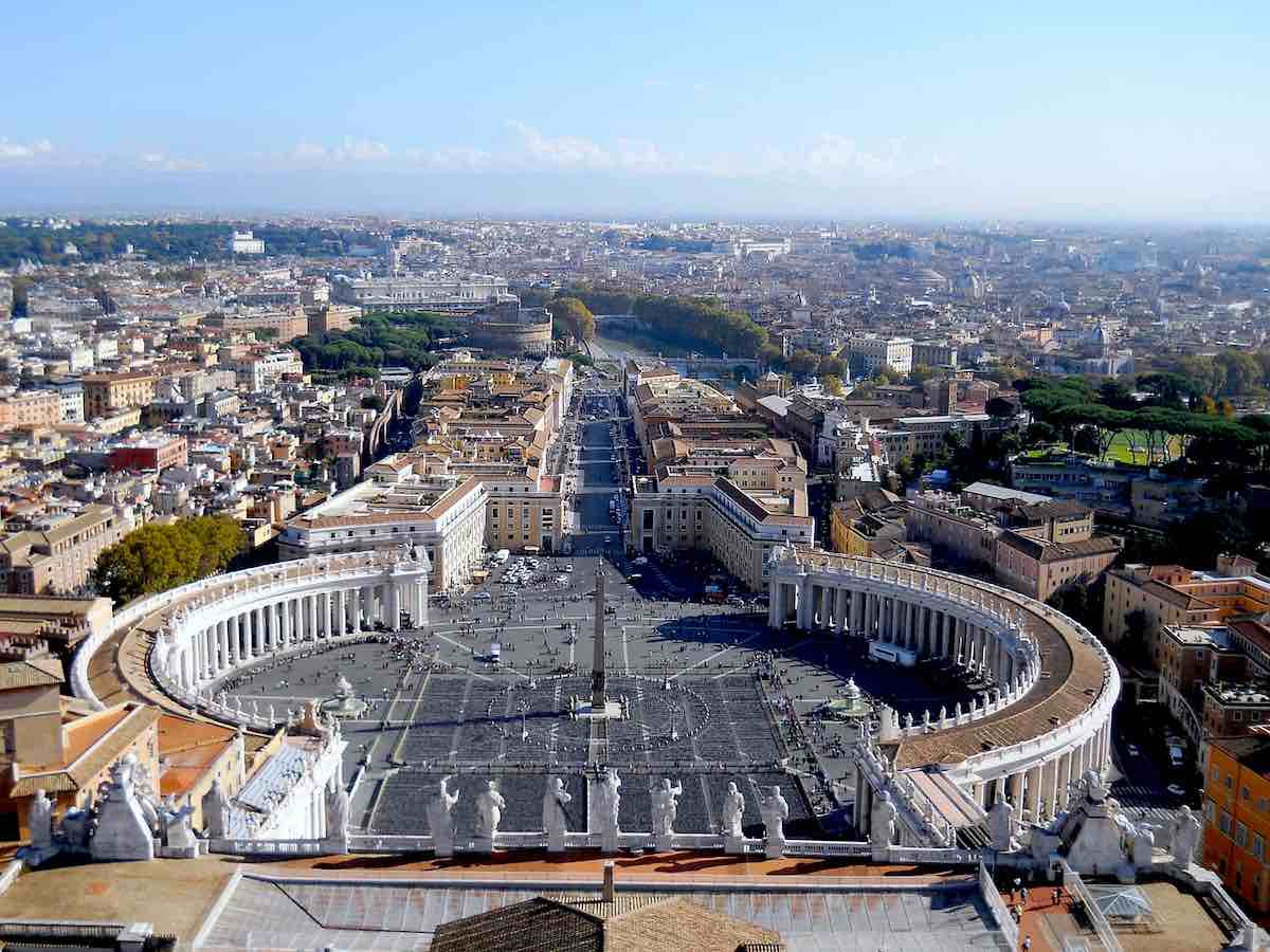 Rome viewpoint from St. Peter's dome
